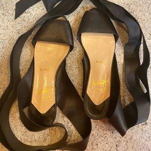 Rare Christian Louboutin Minima Wraparound Sandals